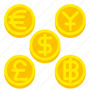 banking, coin, currency, finance, money icon