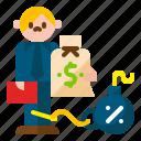 bill, debt, finance, financial, money, problem, tax icon
