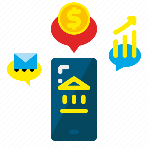 banking, commerce, e, mobile, online, payment, smartphone icon
