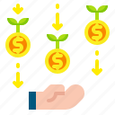 business, finance, financial, growth, investment, profit, success icon