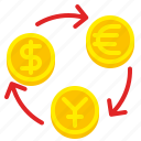 bank, currency, dollar, exchange, money, rate, transfer icon