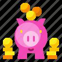 banking, currency, loan, money, piggybank, saving icon