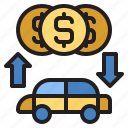 banking, car, loan, transport, vehicle icon