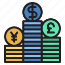 bank, banking, cash, coin, currency, money icon