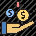 income, money, payment, profit, receive icon