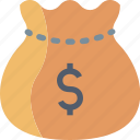 bag, banking, cash, dollar, finance, money, payment icon