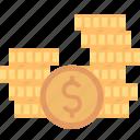 money, banking, cash, coins, dollar, finance, stack