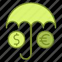 banking, forecast, insurance, umbrella, weather