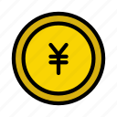 banking, coin, currency, money, yen