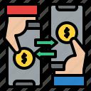 transaction, transfer, money, banking