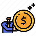 coin, dollar, money, cash, payment