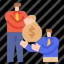 loan, money, borrow, bag, businessman
