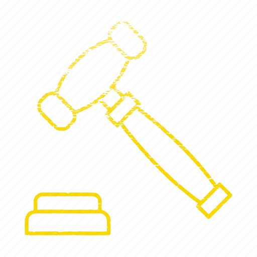 auction, banking, law, legal, tool icon
