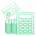 banking, calc, calculation, card, financial, math, money icon