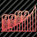 chart, diagram, finance, growth, money, save