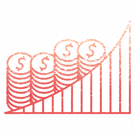 chart, diagram, finance, growth, money, save icon