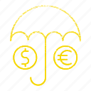 insurance, money, save, umbrella icon