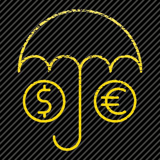 insurance, money, save, umbrella icon