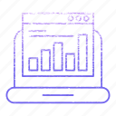 banking, chart, device, diagram, pc, statistic icon