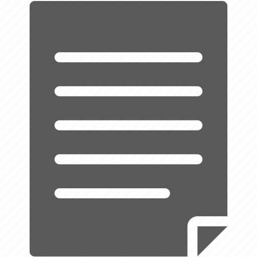 document, memo, paper icon
