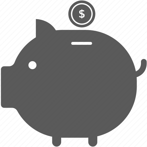 coin, piggy bank, saving icon