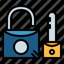 key, padlock, privacy, security icon