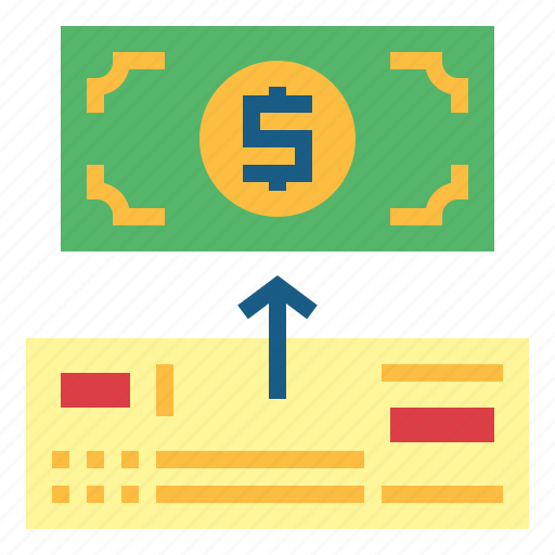 bank, business, check, payment icon