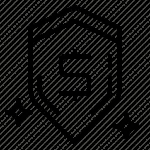 defense, protection, security, shield icon