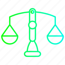 balance, banking, scale, scales icon