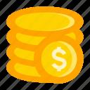 cash, cent, coin, deposit, earning