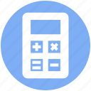 accounting, calculate, calculator, machine, math, office, stationery