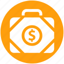 bag, bank, business, dollar, dollar bag, money, office bag icon