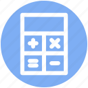 accounting, calculate, calculator, machine, math, office, stationery icon