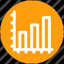 analytics, bar, chart, diagram, financial, graphs, progress icon