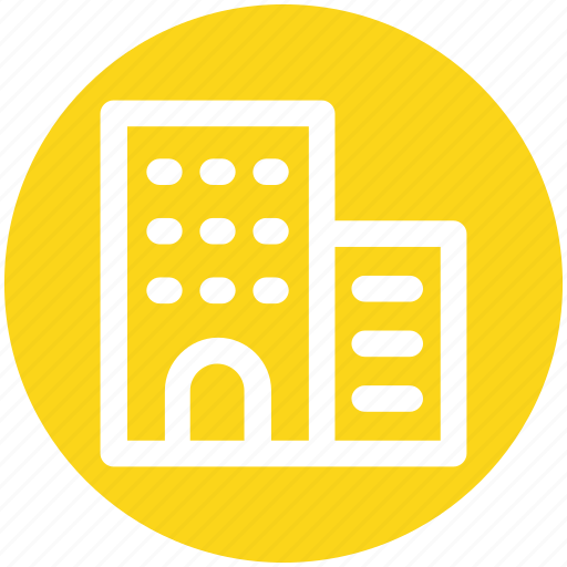 apartment, bank, building, business, office icon