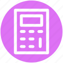 accounting, calculate, calculator, education, machine, math, stationery icon