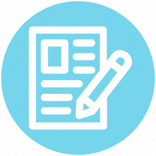 Archive, document, file, page, paper, pen icon - Download on Iconfinder