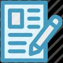 archive, document, file, page, paper, pen