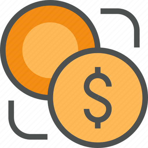 circulation, coin, currency, dollar, exchange, finance, money icon