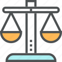 attorney, balance, court, equality, justice, law, scales icon