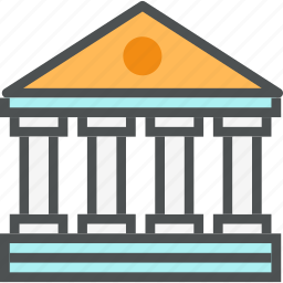 architecture, bank, banking, building, financial, government, institution icon