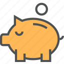 bank, deposit, guardar, money, piggy, piggybank, safe, save, saving icon