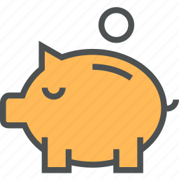 bank, deposit, guardar, money, piggy, piggybank, safe, save, saving icon