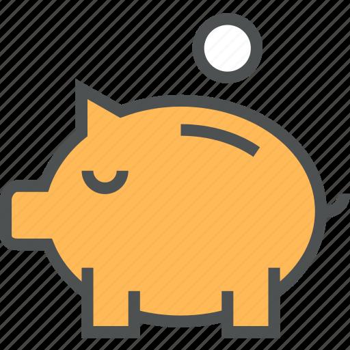 bank, deposit, money, piggy, piggybank, safe, save, saving icon