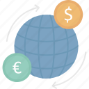 global transfer, device, send, exchanging icon