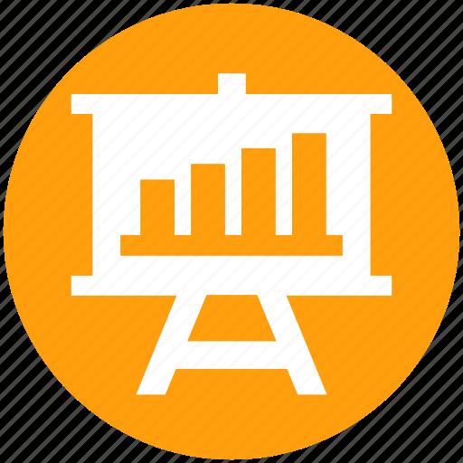 Board, business graph, business presentation, chart, graph, graph board, presentation board icon - Download on Iconfinder