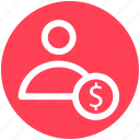 accounting, banking, businessman, dollar, people, person, user