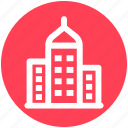 bank, building, chapel, hostels, hotel, office icon