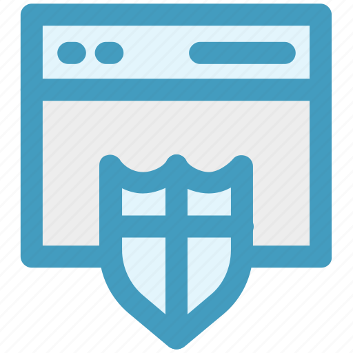 browser, computer security, login page, protection, security, shield, web login icon