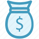 bag, bank, dollar bag, finance, money icon
